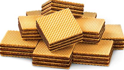 Wafer biskuit cokelat permen kacang